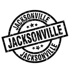 Jacksonville black round grunge stamp vector