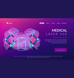 laser technologies concept landing page vector image