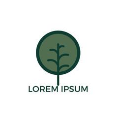 leafy tree logo design vector image