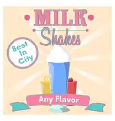 Milkshakes vector image