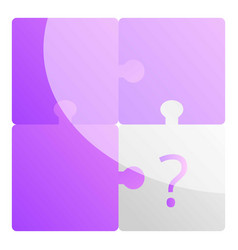 Missing puzzle icon cartoon style vector