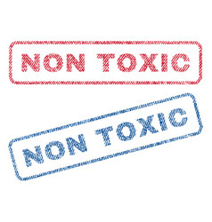 Non toxic textile stamps vector