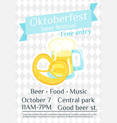 octoberfest greeting card vector image
