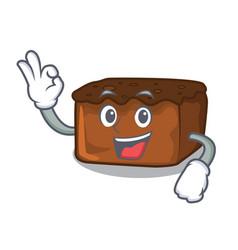 Okay brownies character cartoon style vector