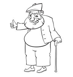 Old man vector image