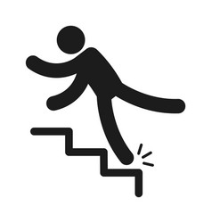 Person injury slipping on wet floor falling vector