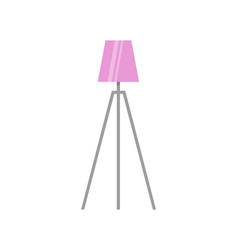pink lamp on tripod illuminated antique torchere vector image