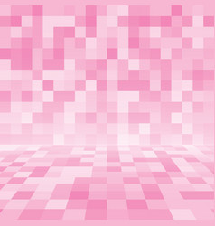 pink random square mosaic or tiles background vector image