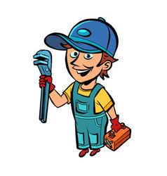 Plumber repairman professional vector