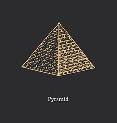 pyramid drawing esoteric and occult sign vector image