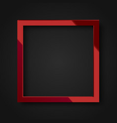 realistic square shiny red frame vector image