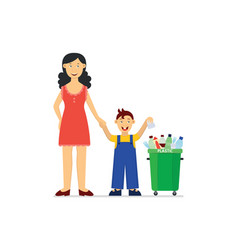Recycle and waste segregation and sorting concept vector