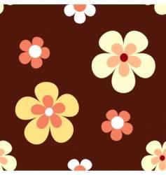 Retro flower pattern vector