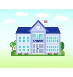 School and education Buildings for city vector image