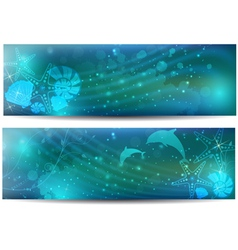 sea abstract banner vector image