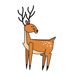 single deer icon image vector image