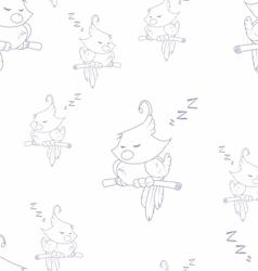 Sleeping birds vector