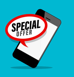 special offer symbol on mobile phone screen design vector image