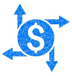 spend money grunge icon vector image