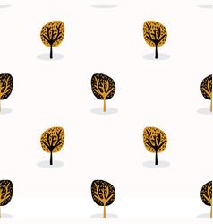 Stylised tree wood repeating seamless pattern vector