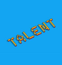 Talent 3d background vector