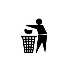 throw to paper bin icon vector image