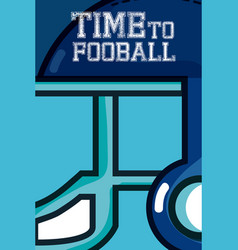 time to football vector image