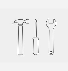 Tools wrench icon spanner logo design element key vector