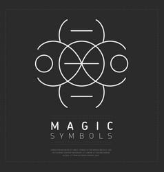 White iconic symbol dark magic vector