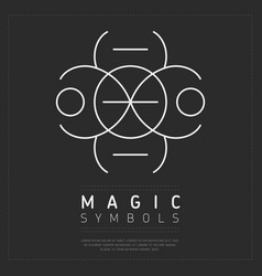 White iconic symbol of dark magic vector