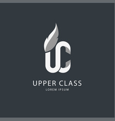 White on dark upper class logo vector