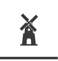 Windmill icon on a white background vector