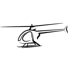 With a helicopter vector