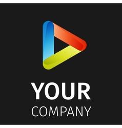 Abstract logo play vector image