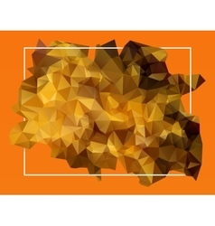 abstract orange lowpoly background vector image vector image