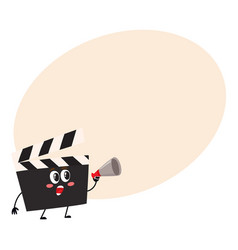 funny cinema production clapper board clapboard vector image vector image