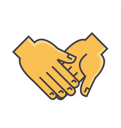 Hand holding anything concept line icon vector