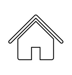 house with roof and door icon vector image vector image
