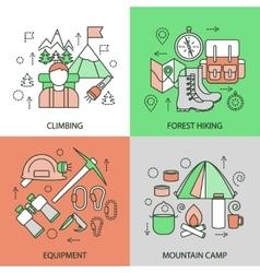Mountain Climbing Linear Compositions vector image vector image
