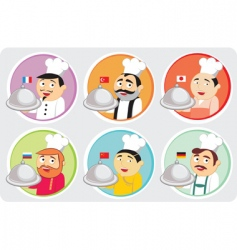 national cuisines vector image vector image
