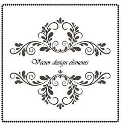 vintage decorative element calligraphic frame vector image vector image