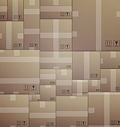 Background for delivery cardboard packs vector