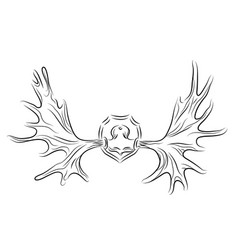 contour of moose antlers vector image vector image