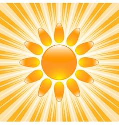 Glossy sun icon vector image