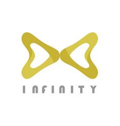 gold infinity logo vector image