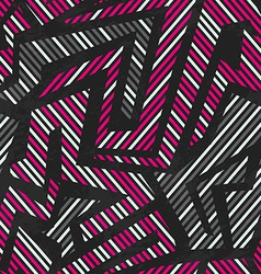 pink tribal geometric seamless pattern vector image