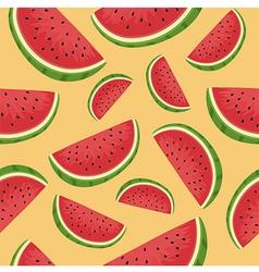 Seamless pattern watermelon slice orange vector