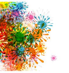 splashes colorful blots grunge background vector image vector image