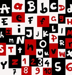 Background with letters and numbers vector image vector image