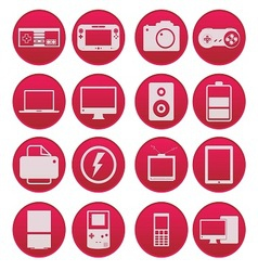 Electronic Technology Device Icon Gradient Style vector image vector image